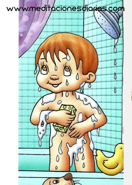 Baño Diario En Ninos: la hora de prepararse para la cena, pero antes debían tomar un baño
