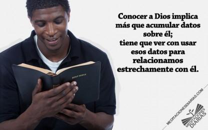 Lo más importante: conocer a Dios