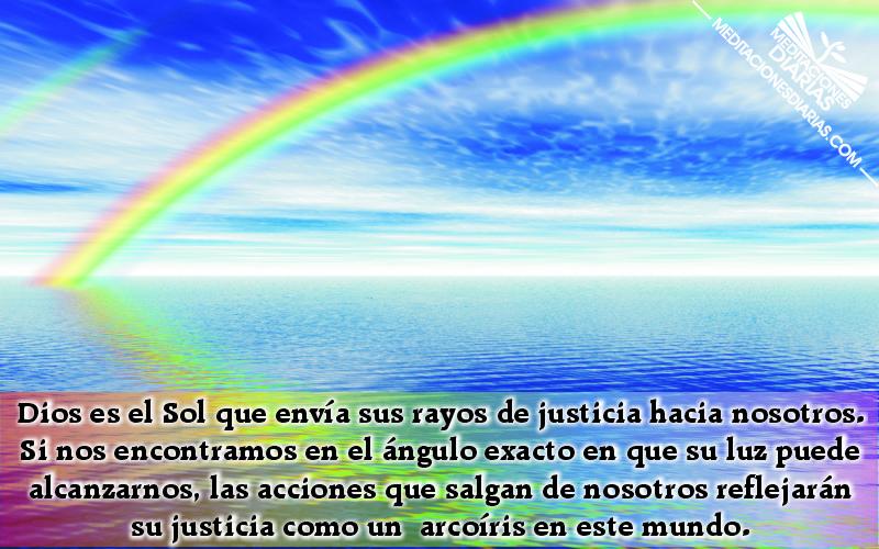 El ángulo exacto del arcoiris