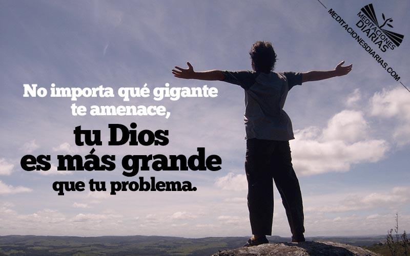 Con Dios, y lo que tengas en tu mano, puedes derrotar gigantes
