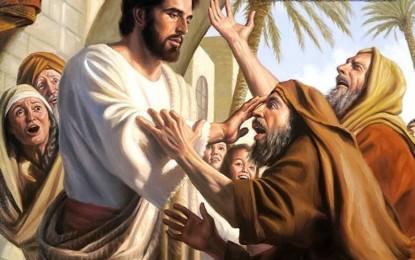 Jesús Sana a dos Ciegos