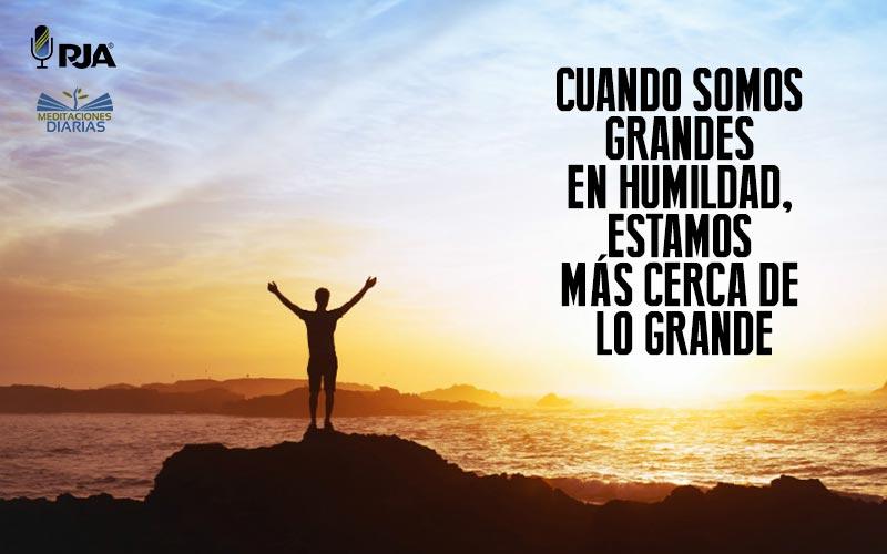 Los frutos de la humildad